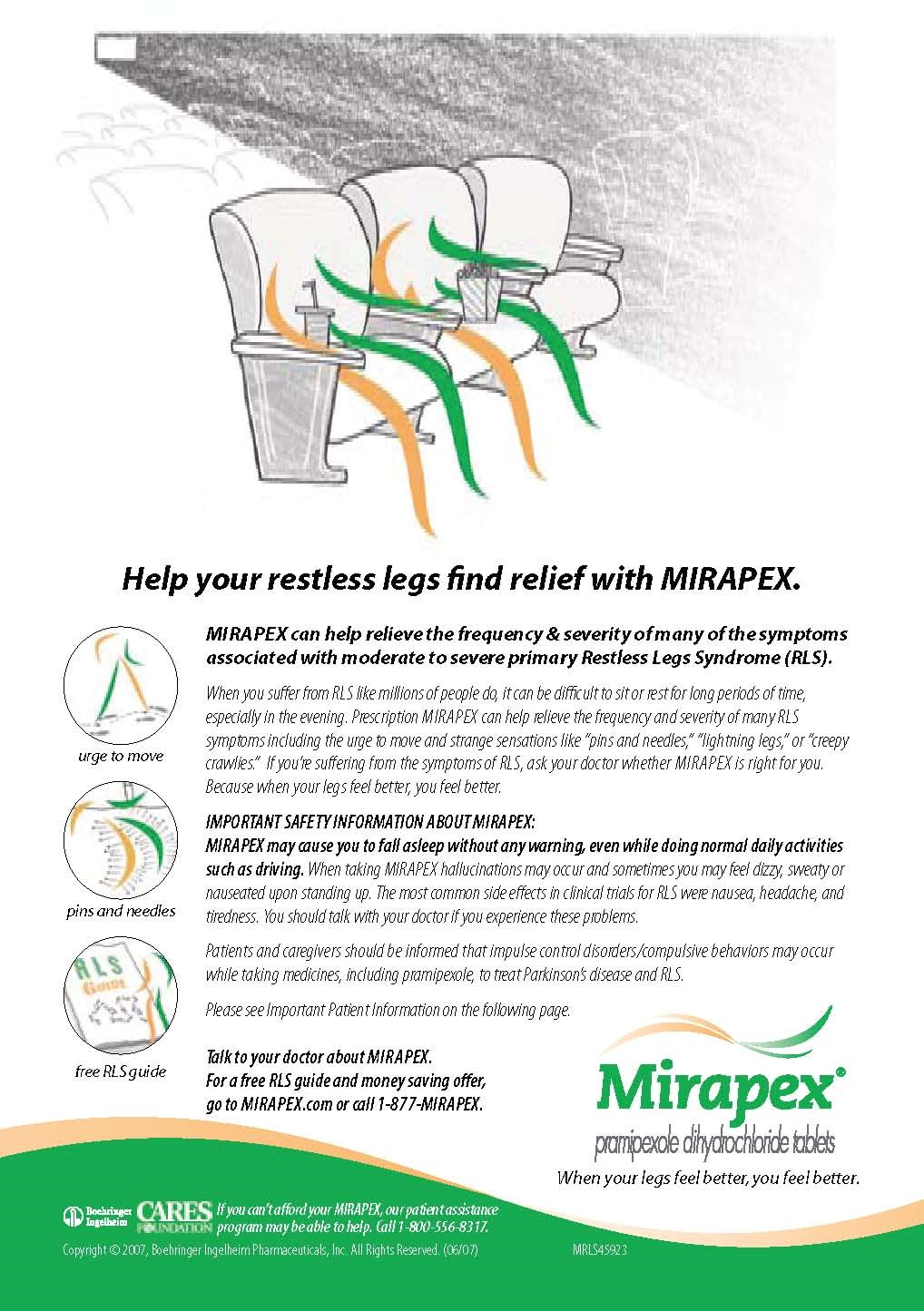 Mirapex campaign gets kick from research