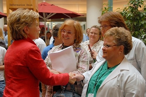 Clinton vows price controls on Rx drugs