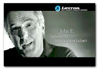New Lipitor ad features testimonial from heart attack survivor