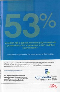 DDMAC cites fishy Cymbalta fibromyalgia ads