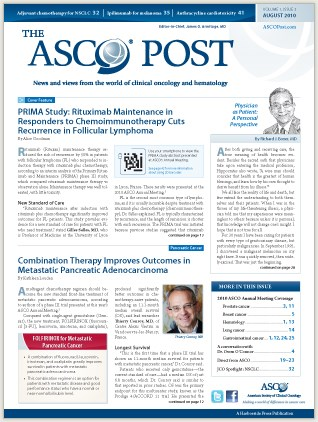 ASCO Post launches in print, and online