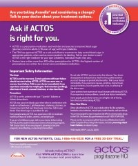 New Actos ads call on current Avandia patients to switch