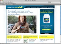 Pfizer piles on Tylenol with Advil ads, website