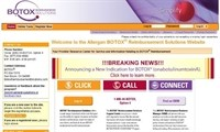 Botox's reimbursement site
