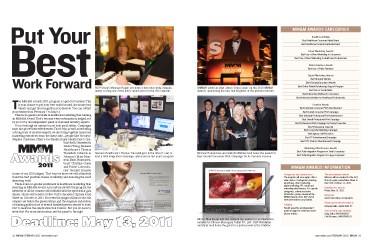 MM&M Awards 2011: Put Your Best Work Forward