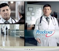 Pradaxa DTC goes the white coat route
