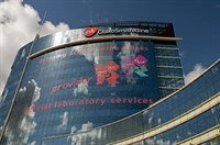 Glaxo signage touts firm's drug-testing role in '12 Games