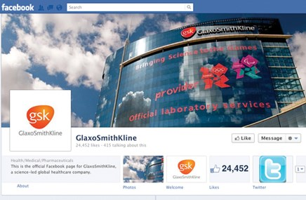 GSK puts increased effort behind its social-media profile