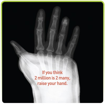 2Million2Many campaign flags bone fracture, osteoporosis link