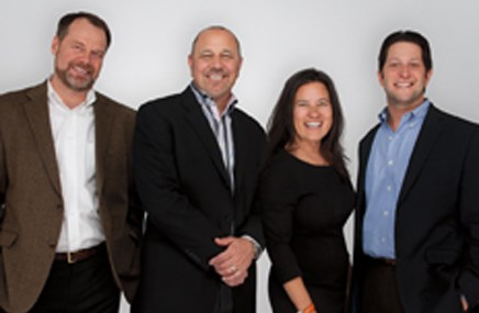 From left: Roger Haskins, Chuck Wagner, Nina Manasan Greenberg, Andrew Gottfried