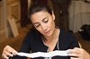 Triax Pharmaceuticals Marketing Director Aleen Hosdaghian reads through the small print