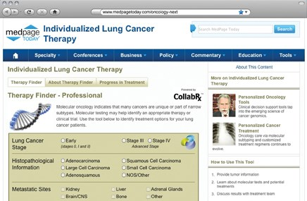 For oncologists, just a few clicks to 'organized wisdom'