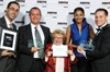 World-renowned psychosexual therapist Dr. Ruth Westheimer presents, rather appropriately, an award to RAPP and Pfizer for the Viagra anti-counterfeiting campaign