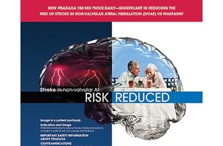An ad for Pradaxa