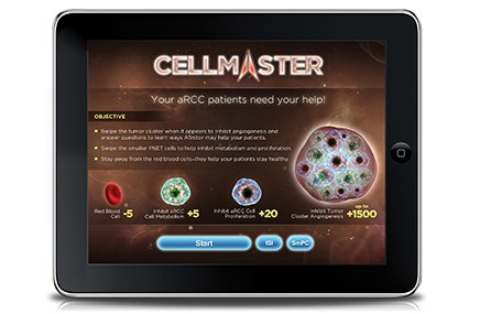 The Cellmaster iPad game for Afinitor