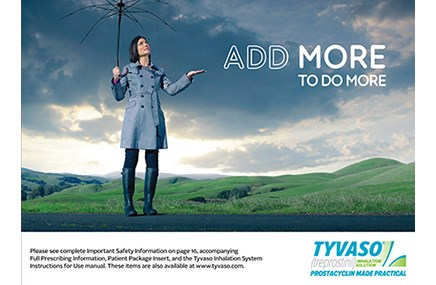 An advertisement for Tyvaso