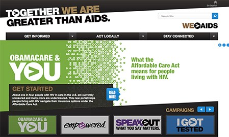 HIV/AIDS site makes healthcare reform personal
