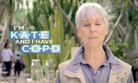 BREO ads make a strong link between the brand name and COPD
