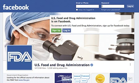 The FDA's Facebook page