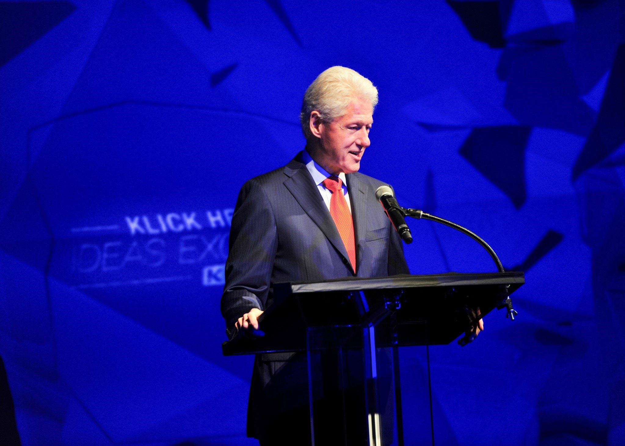 Bill Clinton spoke at the Klick Ideas Exchange.