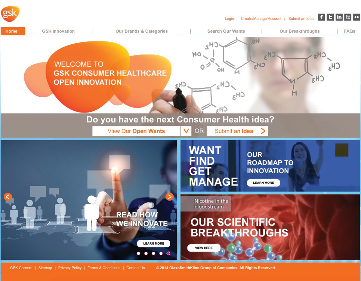 The Cadient Group's Web content for GlaxoSmithKline's Consumer Healthcare demonstrates Cadient's digital insight