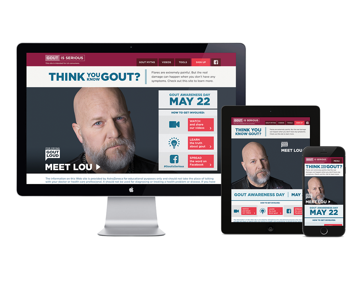 "CDMiConnect's disease awareness campaign ""Gout Is Serious,"" for AstraZeneca, demonstrates patient-centricity on the Web"