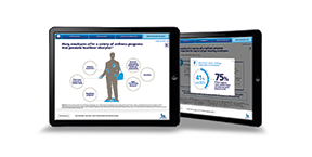 Entrée Health's creative team showcased information design in its iPad training program for Novo Nordisk