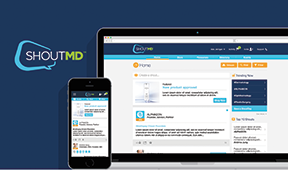 Eveo's disease awareness shows in digital ad work for the ShoutMD intelligence platform