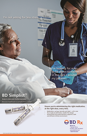Ad for BD Simplist as a source of calm