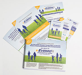Launch materials for Arbor's Evekeo (ADHD)