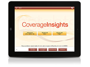 A coverage and reimbursement app gives providers local market costs and coverage messages