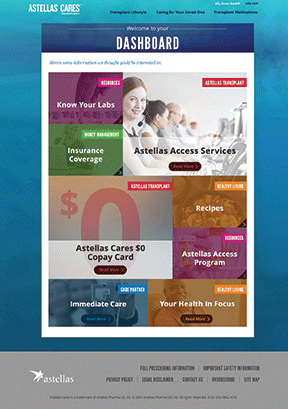 The Astellas Cares campaign dashboard