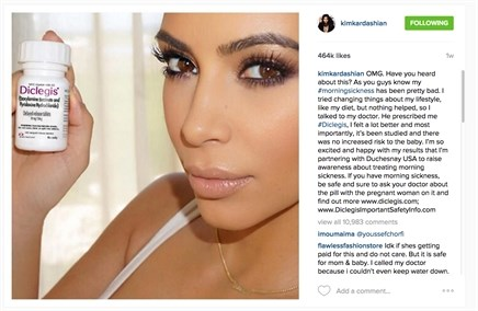 Bad ad watchdog slams Kardashian's social-media post