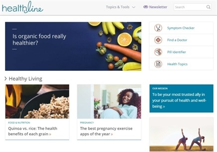 Healthline's traffic rises, putting it closer to WebMD and Everyday Health