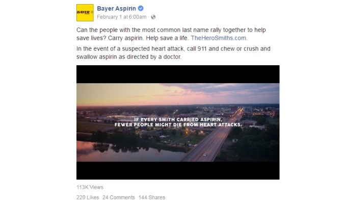 Bayer creates 'everyday hero' campaign for aspirin