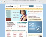 Everyday Health homepage