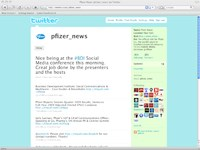 Pfizer dips a toe in the Twitterverse