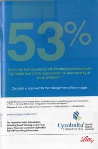 DDMAC cites fishy Cymbalta fibromyalgia ads