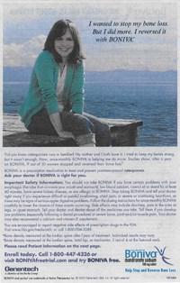 Boniva print ad hyped efficacy, says DDMAC