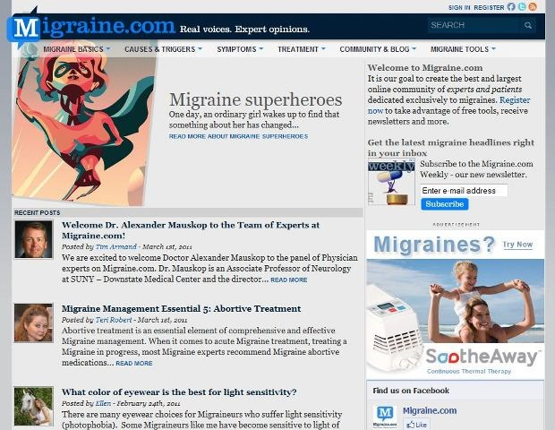 Ex-GSK marketer launches migraine consumer site