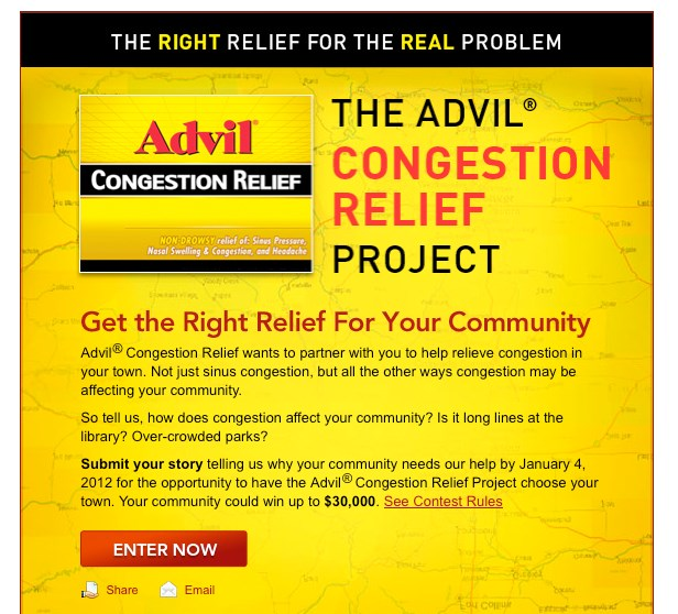 Advil Congestion effort ties traffic gridlock to cold and flu misery