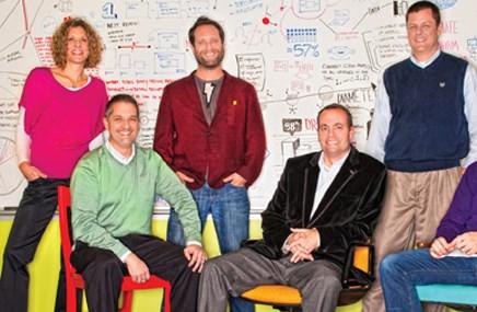 Executive team members Amy Swissler Hutnik, Joel Gerber, David Grillo, Andy Crawford, Paul Miller