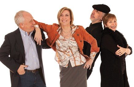 From left: Steve Frederick, Charlene Prounis, Steve Witt and Helen Appelbaum