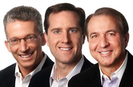From left: Scott M. Weintraub, Jeffrey A. Spanbauer, Bill Goldberg