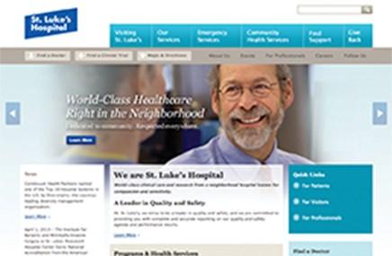 The website for St. Luke's Hospital