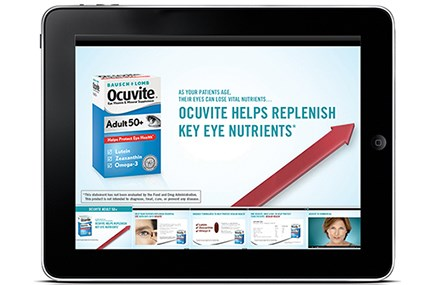 iPad work for Bausch + Lomb's Ocuvite