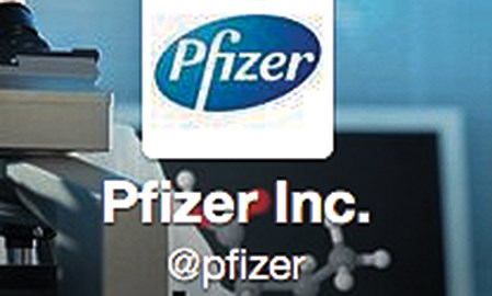 Pfizer's Twitter feed