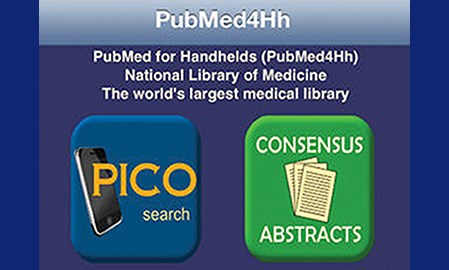 the iPhone app PubMed4h