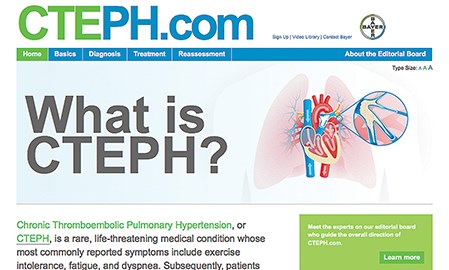 Cardio educational website from Bayer makes its debut