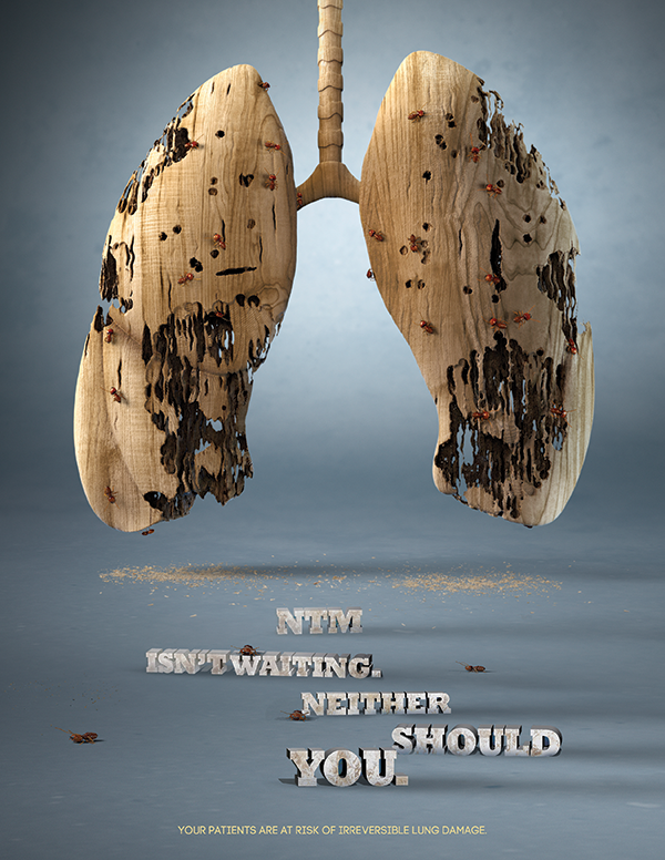 An awareness ad for rare respiratory disease NTM (ad courtesy of Area 23)